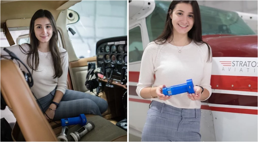 bced611e87ae5 فتاة سورية تبتكر شاحن يستخدم منافذ هواء الطائرة لتزويد أجهزة الطائرة  بالطاقة الكهربائية